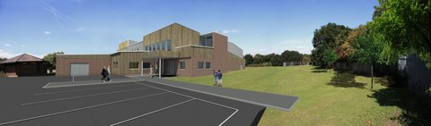 New Sports Hall, Esher High School, Ball Hall, Clague Architects